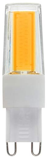 Lampadina LED G9 COB 2608, 9 Watt, luce bianca calda, dimmerabile, 220 V