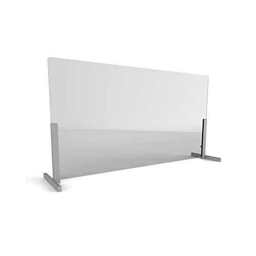 Linea Italia Acrylic Transparent Office Desk Barrier Sneeze Guard Shield Protection, 31' x 72', 31' x 72' x 0.125', Clear