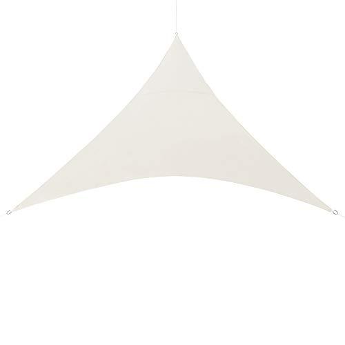 [en.casa] Dreieck Sonnensegel 620x620x620cm Sandfarben Sonnenschutz PU-Beschichtung 160g/m² UV-Schutz Sonnendach Schattenspender