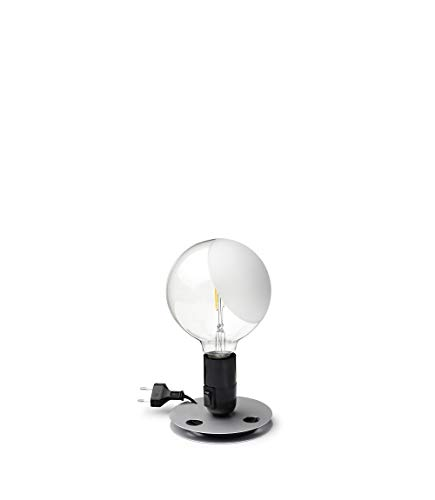 Flos LAMPADINA LED EU NRO, Aluminium, schwarz, 12,5x24cm