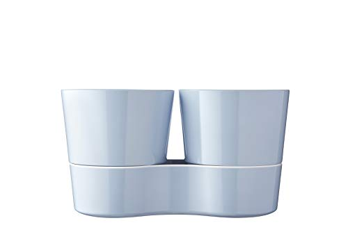 Mepal Hydro Herbs Twin Nordic Blue – für Zwei Kräutertöpfe – Immer frische Kräuter in der Küche – auch für Pflanzen geeignet – spülmaschinenfest, Melamine, 0 mm