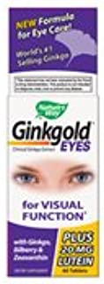 Nature's Way Ginkgold Eyes, Visual Health Formula*, Gluten Free, 60 Vegan Tablets