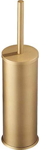 QZMX Cepillo de baño Soporte de Cepillo de Inodoro Aluminio Baño Baño de Lavabo Suelo Typetoilet Baño Cepillo (Color : Brushed Gold)
