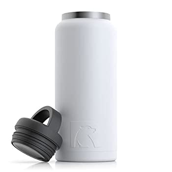 RTIC Water Bottle 36 oz White Vacuum-Insulated Stainless Steel