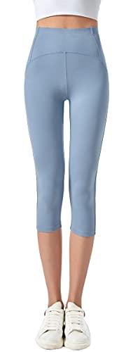 JOPHY & CO. Leggings 3/4 Donna Elastico per Yoga e Pilates (cod. 9901) (Jeans, L)