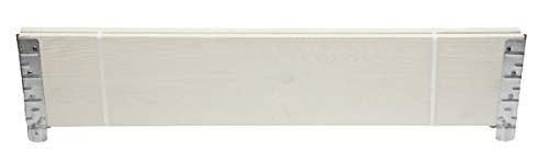 Nortene Set de 2 Planches de pin pour Mini Potager Modulo Garden- 100 x 19,5 x 2 - Blanc