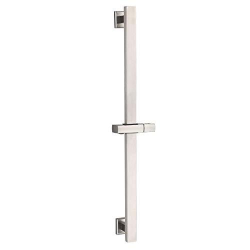 Drenky Asta doccia rialzata, Asta doccia in acciaio inossidabile 304 Con staffe di fissaggio regolabili in altezza e angolo, Superficie in acciaio inossidabile spazzolato, 660 mm di altezza totale