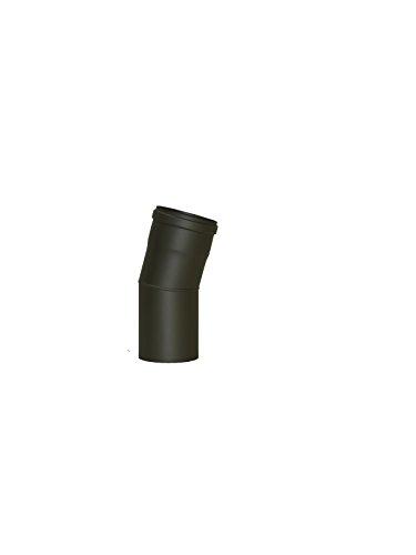 LANZZZAS Pellet pellet rookpijp pelletkachel pijp 15° boog eenmaal gebogen zonder reiniging Kleur grijs Ø 100 mm