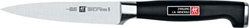 Zwilling 30070-101-0 Twin Four Star II Spick und Garniermesser, Rostfreier Spezialstahl, Zwilling Sonderschmelze, Kunststoff, Edelstahlapplikation, 100 mm, schwarz
