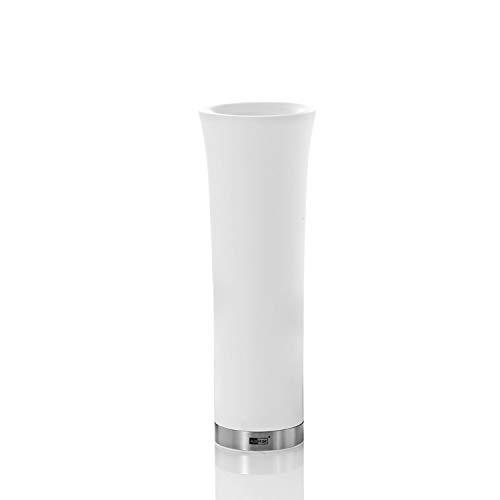 AdHoc Elektrische Pfeffer Oder Salz Kippmühle Milano Weiss, Ceramic Mahlwerk Ceracut®, Led-Licht, Kunststoff, D: 6,5 Cm, H: 20 [A]