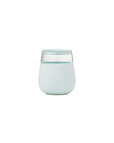 W&P Porter Wine Cocktail Glass w/ Protective Silicone Sleeve | Mint 15 Ounces | On-the-Go | Reusable...