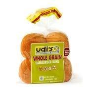Udis Gluten Free Whole Grain Hamburger Buns - 4 per pack - 8 packs per case.