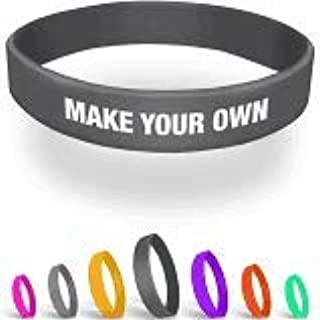 PROMOKING Customizable Silicone Debossed WristbandOrder at Least 100 and get 100 Free (100qt)