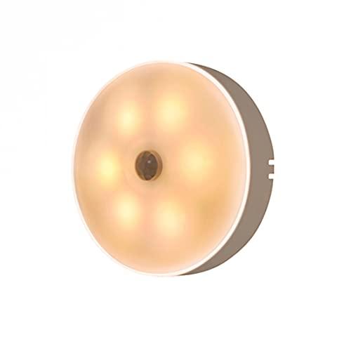 PINGHE Luz Nocturna Led Enchufable en La Pared, Sensor de Movimiento Recargable de IluminacióN Nocturna con Luz Suave para Bebé, NiñOs, HabitacióN De Los NiñOs, Pasillo, Escalera, Blanco CáLido