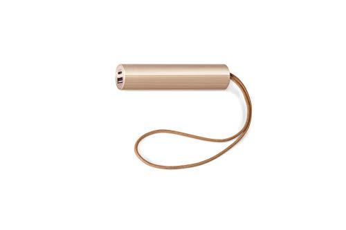 LEXON Fine Tube Power Bank 2 - Batería externa dorada de 3000 mAh