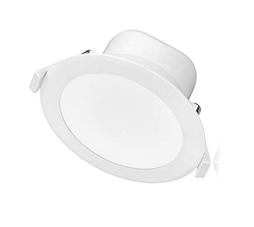 TEVEA - LED Einbaustrahler Dimmbar IP44 9W 806lm 230V - LED Einbauleuchte Warmweiss Kaltweiss Neutralweiss (Triple-Weiss)