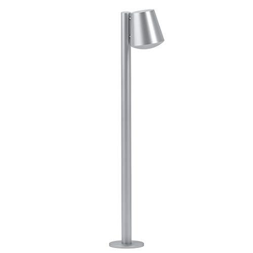 Eglo Connect Caldiero-C Smart Home Lampadaire d'extérieur en acier inoxydable et plastique Couleur : argenté, blanc, blanc chaud, intensité variable IP44