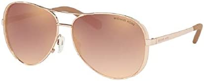 Michael Kors MK5004 CHELSEA Aviator 11086F 59M Rose Gold Rose Gold Gradient Flash Sunglasses product image