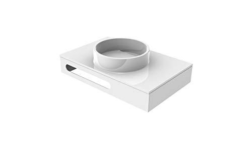 EMCO ASIS Waschtisch mit Armaturenbohrung (M-guss) mit HT-Blende, 815mm, schwarz, HSN 957927515