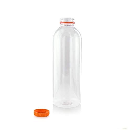 Round PET Bottle with Orange 16.9oz - Cap: Super beauty product restock quality top! Online limited product 500ml 55pcs