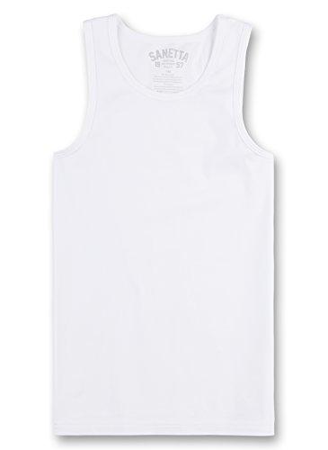 Sanetta Jungen 344686 Unterhemd, Weiß (White 10), 140