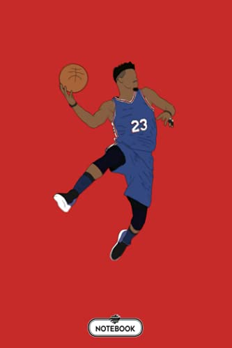 Jimmy Butler Sixers Notebook: Diary, Planner, Journal, 6x9 120 Pages, Lined College Ruled Paper, Matte Finish Cover