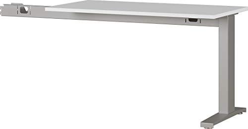 Amazon Marke - Alkove mechanisch höheneinstellbare 90° Anbauplatte Arlington, ideal für Home Office, in Lichtgrau/Silber, 113 x 88 x 60 cm (BxHxT)