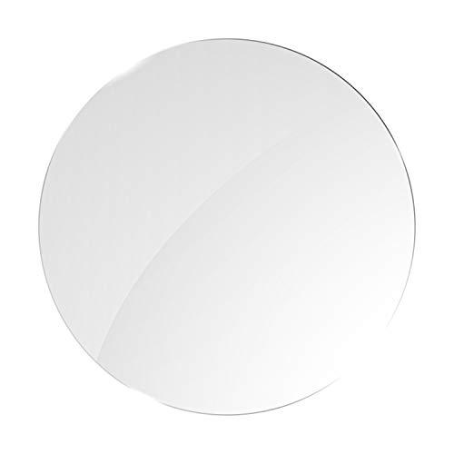 Runde Glasplatte ESG 8mm, klar durchsichtig. Durchmesser nach Maß bis 60 cm (600 mm), Kanten geschliffen und poliert. ESG nach DIN. Kantenstempel.