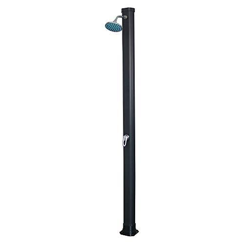 iWork L-81-941 - Ducha Solar De Jardin 20L-PVC (18 x 17 x 214) Color Negro y con Monomando de Ducha Regulable