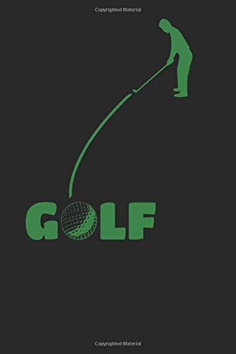 GOLF notebook: GOLF Journal blank book, 6x9 inch, 108 unlined plain pages, small golfball icon on each page, cover: putt