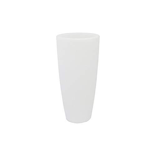 TEKCNOPLAST V0160 Vaso Illuminato, 240 W, Bianco, Ø 33 cm. - H 70 cm