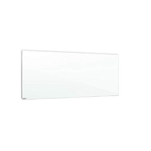 ETHERMA LAVA® Infrarotheizung, Glasheizkörper, 800 W, 50 x 160 x 3 cm, Oberfläche aus 6 mm ESG-Sicherheitsglas, Made in Austria, TÜV, 5 Jahre Garantie, Farbe: weißgrün, LAVA2-GLAS-800-WG