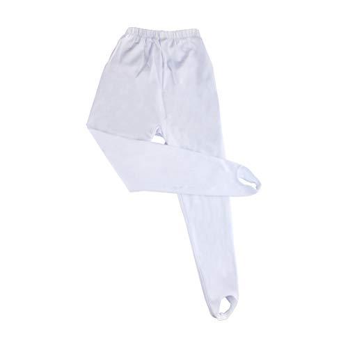Andux Zone Pantalones de Baile Para Niños, Pantalones de Gimnasia para Niñas Niños ETWDK-01 (152cm, Blanco)