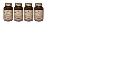 SOLGAR-OLIGO MAG PLUS 4 CONFEZIONI DA 100 TAVOLETTE-stanchezza,affaticamento ,sistema nervoso