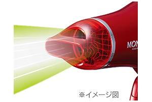 コイズミヘアードライヤー(レッド)KOIZUMIMONSTER(モンスター)ダブルファンドライヤーマイナスイオンKHD-W730-R