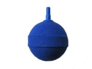 Sprudelstein/Luftstein Kugel blau 5cm Durchmesser für 4/6mm Luftschlauch