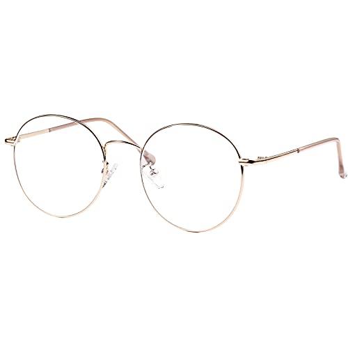 ROSA&ROSE Gafas para Ordenador Anti luz Azul - Gafas con Filtro de luz Azul bloqueo de luz azul Evita la Fatiga Ocular para Hombre Mujer