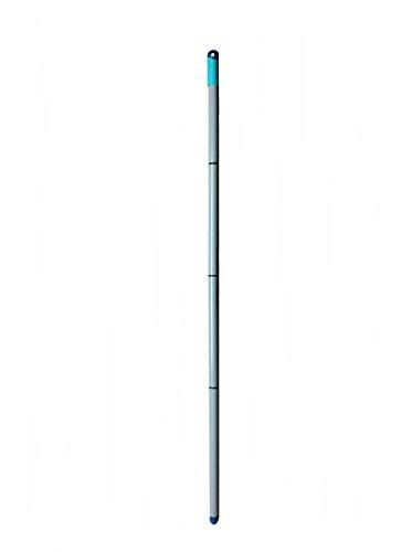 Leifheit Ersatz-Stiel für Twist-System I Universal Stahl-Stiel für verschiedene Boden-Wischer-Reinigungsgeräte I 4 teilige Steck-Verbindung 120cm