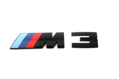 Original M3 Emblem Logo M-schwarz