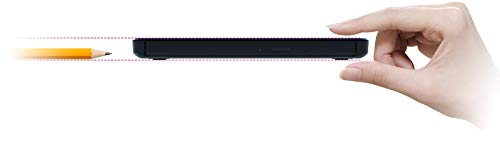 Hitachi-LG GP96YB70 Externer Portabler DVD-Brenner, Android-Kompatibel, Win 10 & Mac OS Kompatibel, USB 2.0, DVD+R/RW, DVD-RAM/RW DVD-R, 8X Schreibgeschwindigkeit