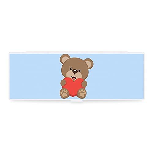 Estuche de lápices transparente pequeño y grande con diseño de animal, animal, animal, animal, animal, amor, pintura de dibujos animados, caja de colección para oficina woker hombres y mujeres unisex