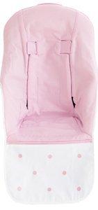Bimbi Romantic - Colchoneta, 70 x 103 cm, blanco y rosa