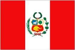Smiffy's Novelties Direct Pérou/péruvien drapeau 5 ft x 3 ft %poly 100 (avec oeillets pour suspension