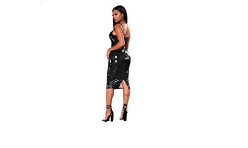 Top Totty Zwart Plus Size Sexy Bodycon lederen jurken