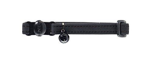 HUNTER SOFTIE Katzenhalsband, Kunstleder, mit Sicherheitsverschluss, schwarz
