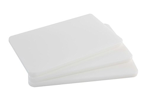 Plastic Bar Cutting Board for Restaurants, NSF and FDA Certified, 3 Pack, 10 x 6 Inch, White