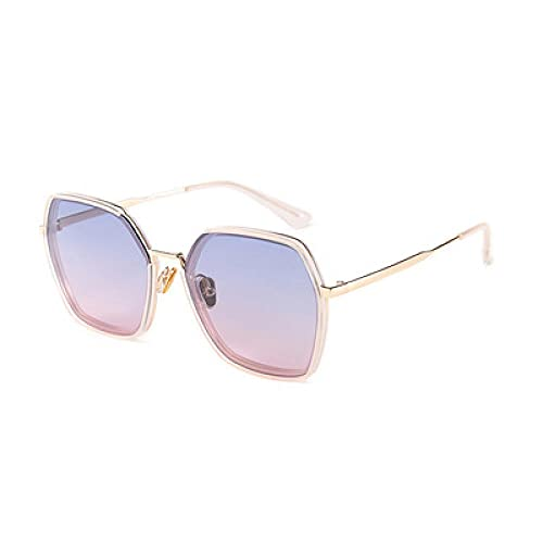 Gosunfly Damen polarisierte Sonnenbrille Trend UV-Brille-C2 Black Box doppelte graue Folie