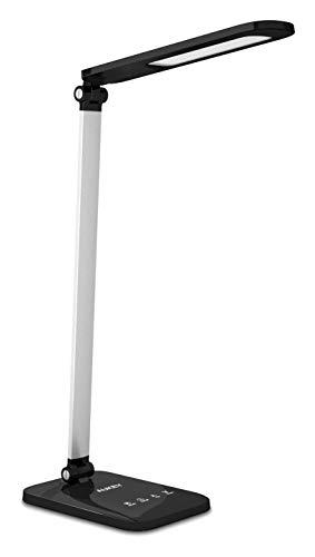 Lámpara de sala de estar de dormitorio Noche lámpara de escritorio LED for oficinas y dormitorios, 3 modos de color, 5 niveles de brillo, lámpara de escritorio contacto con la luz blanca cálida, la si