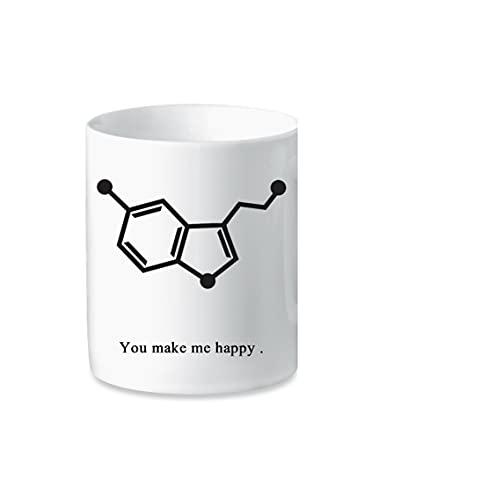 Taza de cerámica – You Make Me Happy – Serotonina – Idea regalo
