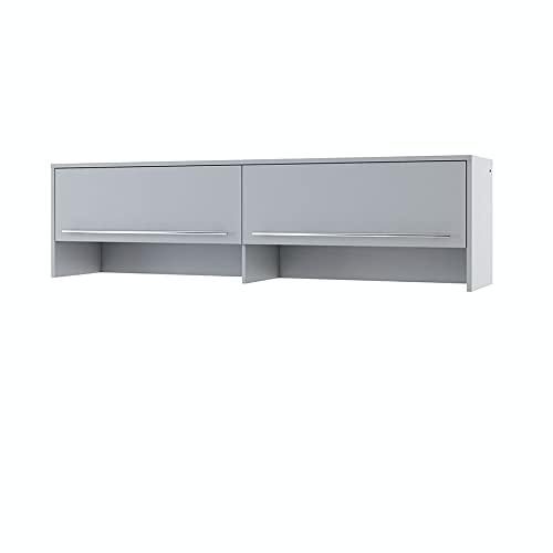 Furniture24 Aufsatz Concept PRO CP9 Schrank für Wandklappbetten Horizontal (Weiß/Weiß Hochglanz)